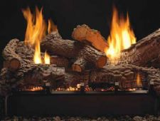 White Mountain Hearth - Multi-Sided Burner with Rock Creek Log