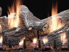 White Mountain Hearth - Slope Glaze Burner with Sassafras Log